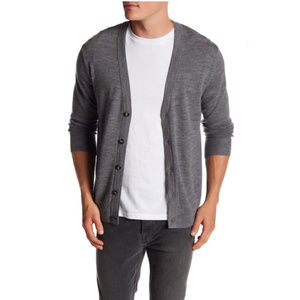 Dockers Merino Wool Cardigan Men's Large Grey NEW